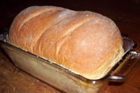 Image: Fresh Loaf of bread just out of the oven