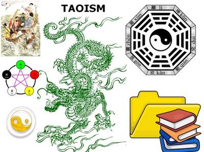 Image: Taoist symbolic representations collage